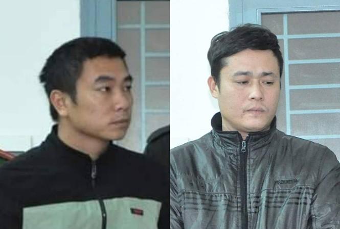 Hai đối tượng Đinh Văn Hiền và Đinh Công Quân vừa bị khởi tố, bắt giam. Ảnh: CA