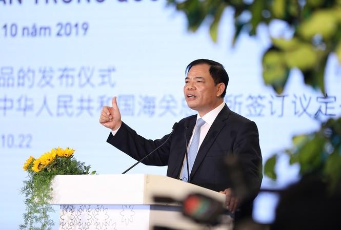 Bộ trưởng NN&PTNT Nguyễn Xuân Cường cho biết, Trung Quốc là thị trường nhập khẩu sữa rất lớn và đây là cơ hội của các doanh nghiệp Việt Nam.