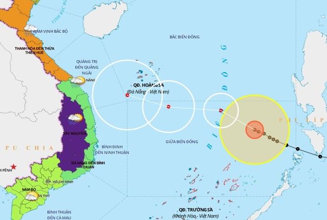 Theo dự báo, khả năng bão số 8 sẽ suy yếu dần trên biển do tác động của không khí lạnh