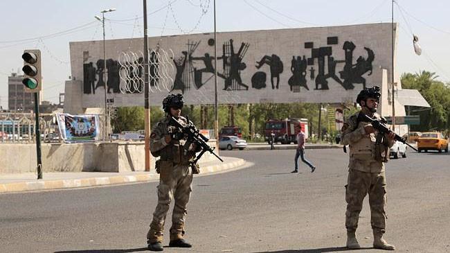 Binh sỹ Iraq canh gác tại thủ đô Baghdad