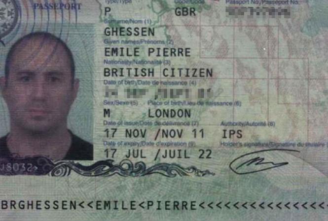 Tấm hộ chiếu của phóng viên Emile Pierre Ghessen