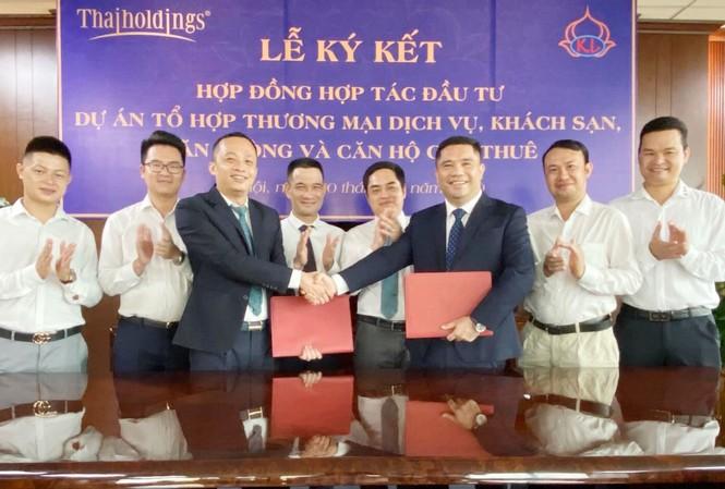 Lễ ký kết hợp đồng hợp tác đầu tư Dự án Tổ hợp công trình thương mại dịch vụ, Khách sạn, Văn phòng và Căn hộ cho thuê tại địa điểm số 5 - 7 Đào Duy Anh vừa diễn ra tại Hà Nội