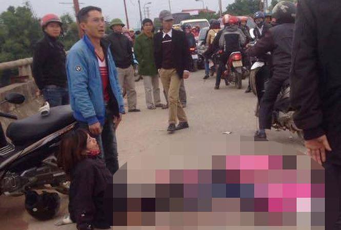 Hiện trường vụ tai nạn thương tâm tại Phú Bình, Thái Nguyên khiến hai trẻ nhỏ tử vong