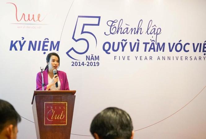 Bà Trần Thị Như Trang, Giám đốc Quỹ VTVV phát biểu tại Lễ kỷ niệm