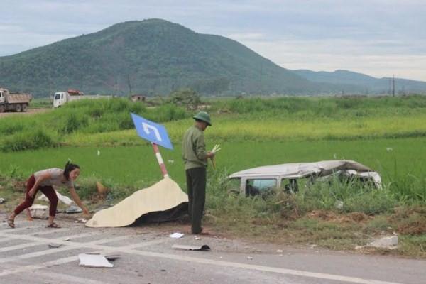 Vụ tại nạn khiến 1 người tử vong tại chỗ.