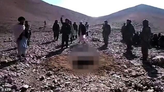 Hình ảnh tàn bạo được ghi lại trong đoạn video. Ảnh: Dailymail
