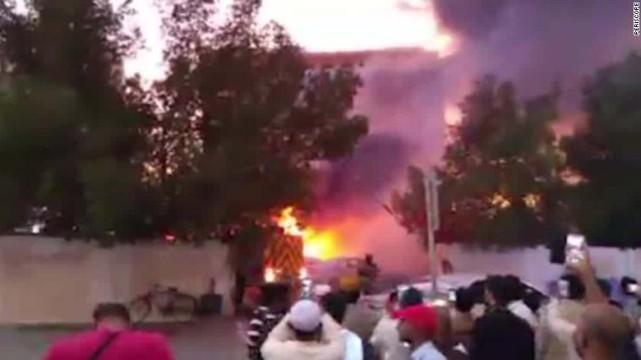 Một vụ tấn công tại Saudi Arabia. Ảnh: CNN