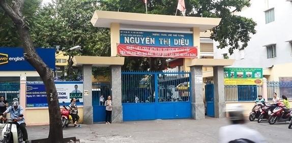 Học sinh của trường THPT Nguyễn Thị Diệu có liên quan đến vụ học sinh chém nhau (ảnh internet)