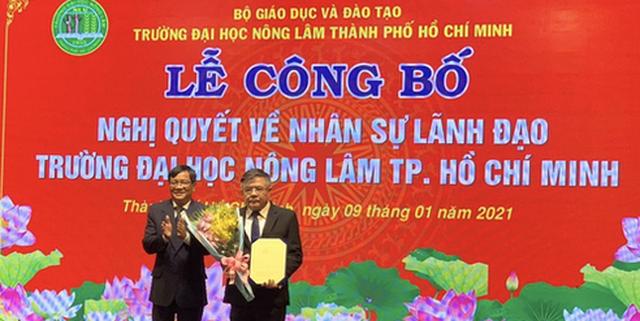 PGS- TS Huỳnh Thanh Hùng làm quyền hiệu trưởng Trường ĐH Nông Lam TPHCM (ảnh A.T)