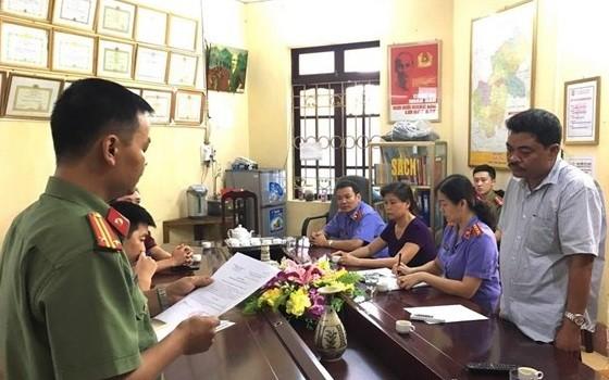 Cơ quan đọc lệnh khởi tố, tạm giam đối với bị can Nguyễn Thanh Hoài.