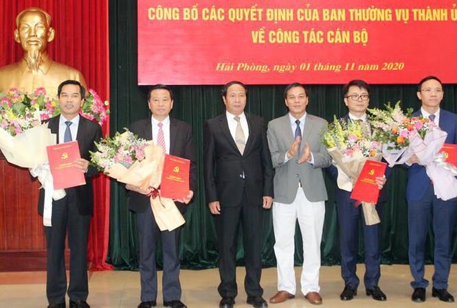 Hội nghị công bố quyết định nhân sự của Ban Thường vụ Thành ủy Hải Phòng.