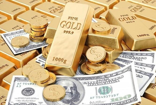 Giá vàng và USD bấp bênh. ảnh minh họa