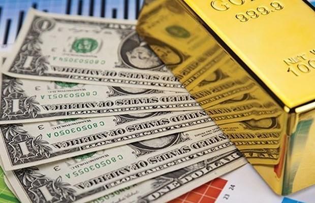Giá vàng tiếp tục tăng, USD giảm nhẹ