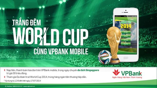 Dự đoán World Cup, trúng thưởng ngân hàng