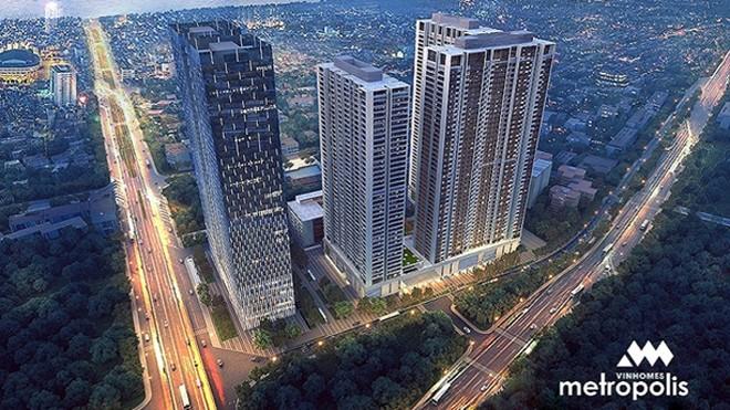 Vinhomes Metropolis sở hữu vị trí vàng ở trung tâm Hà Nội với khả năng sinh lời cao và an toàn