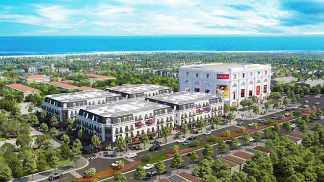 Phối cảnh minh họa tổ hợp TTTM và Vincom Shophouse Phú Yên