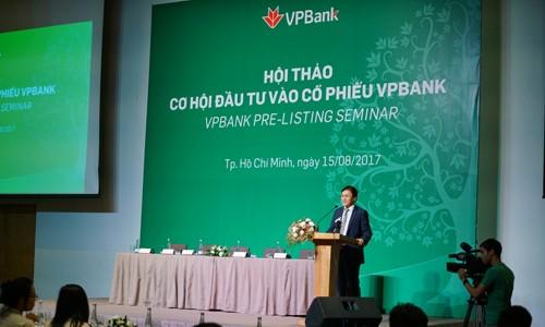Tổng giám đốc VPBank - ông Nguyễn Đức Vinh phát biểu khai mạc Hội thảo
