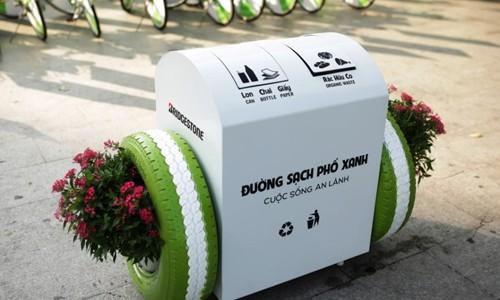 Phiên bản thùng rác với những tính năng thông minh của Bridgestone Việt Nam tạo nên làn sóng nhỏ về chuẩn thùng rác công cộng trong năm 2017