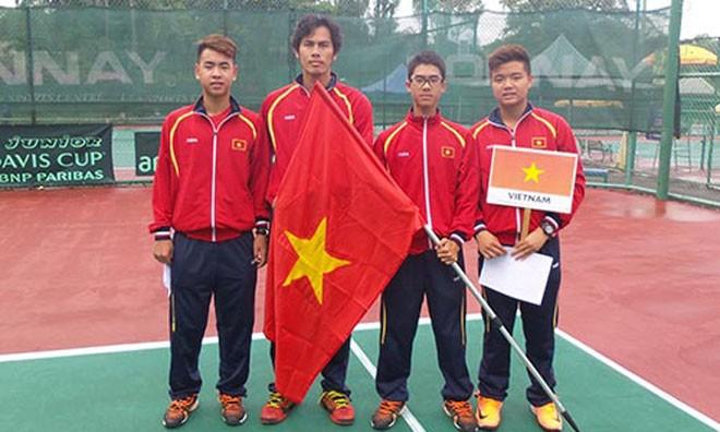 Đội tuyển quần vợt U16 Việt Nam. Ảnh: Người lao động.