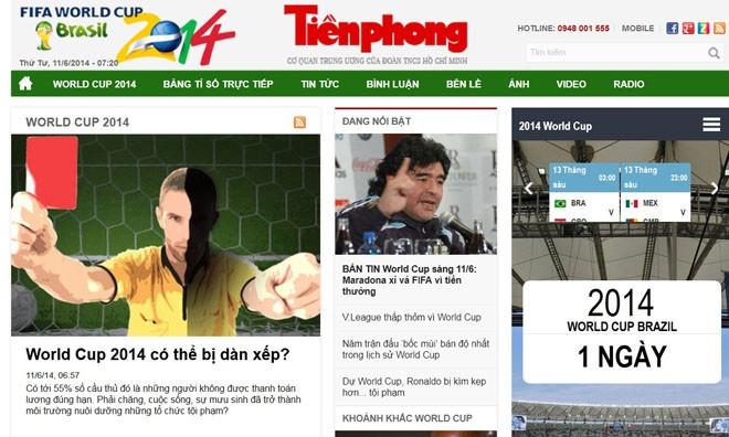 Cùng Tiền Phong đồng hành World Cup