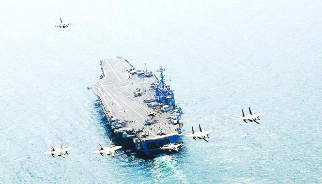 Tàu sân bay Mỹ gần đây thường xuyên hiện diện ở biển Đông. Ảnh: US Navy