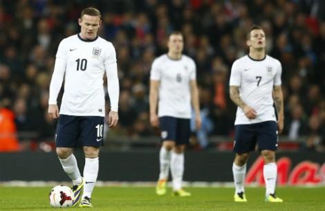 Các cầu thủ Anh đã có màn trình diễn thất vọng tại World Cup 2014