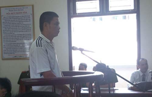 Ninh Văn Tiến tại phiên xử phúc thẩm hôm 25/6. Ảnh: VnExpress