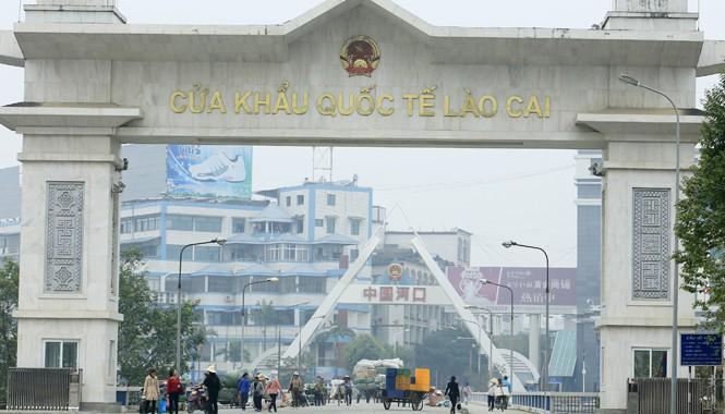 Cửa khẩu Quốc tế Lào Cai Việt Nam. Ảnh: Ngọc Châu