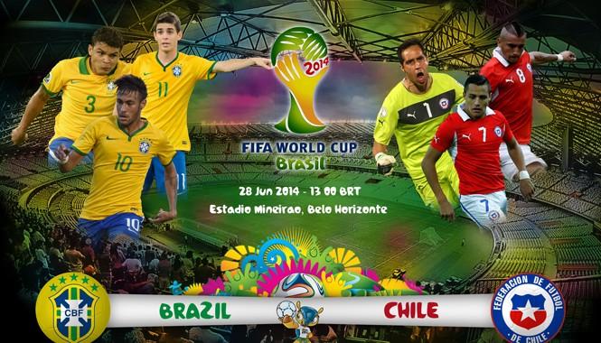23h ngày 28/6, Brasil - Chile: Phía trước là bầu trời