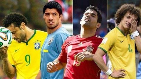 Fred, Suarez, Costa và Luiz, những ngôi sao xịt của World Cup