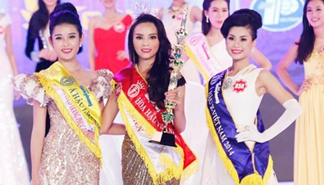 Top 3 thí sinh Hoa hậu Việt Nam 2014.