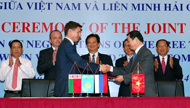Kết thúc đàm phán FTA Việt Nam-Liên minh Hải quan