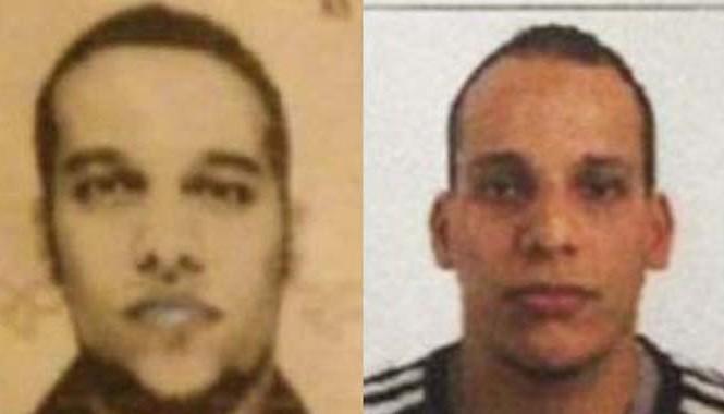Said Kouachi (trái), 34 tuổi và em trai Cherif Kouachi, 32 tuổi, được cho là nghi phạm vụ khủng bố. Ảnh: Daily Mail.