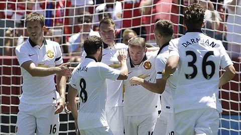 M.U đánh bại Barca 3-1 tại California.