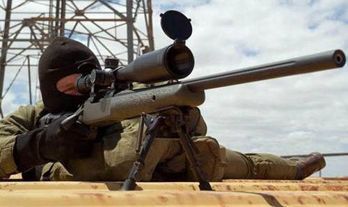 Một tay súng bắn tỉa của lực lượng đặc nhiệm không quân Anh. Ảnh: Express.