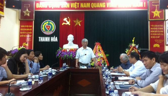 Toàn cảnh họp báo thông báo Đại hội cựu TNXP Thanh Hóa sáng 6/11. Ảnh: Hoàng Lam.
