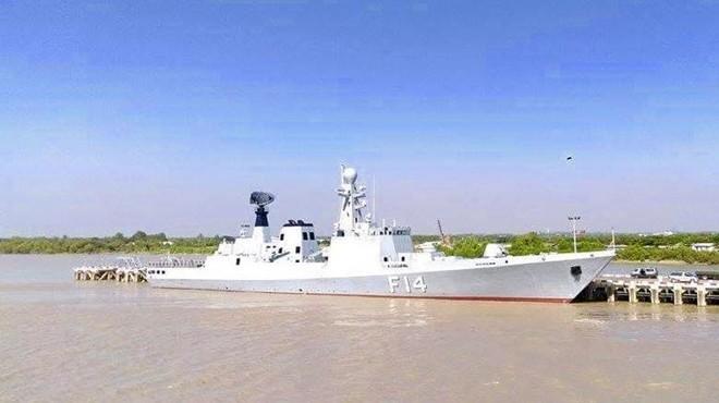 Khinh hạm F 14 của Hải quân Myanmar. Ảnh: Facebook/Hải quân Myanmar.