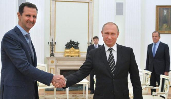 Tổng thống Syria Bashar al-Assad (trái) có chuyến thăm Nga vào tháng 10 năm ngoái. Ảnh: Kremlin.ru.