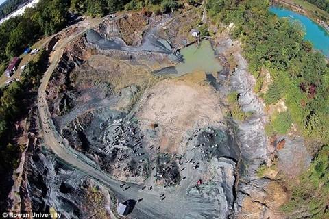 Mỏ hóa thạch được phát hiện ở bang New Jersey, Mỹ.
