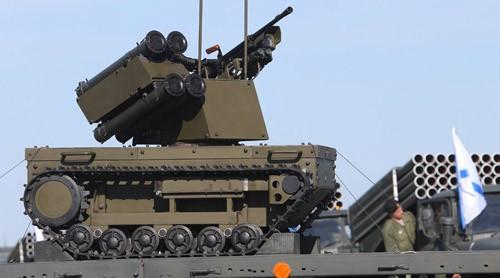 """Robot chiến đấu """"Platform-M"""" của quân đội Nga. Ảnh: Sputnik."""