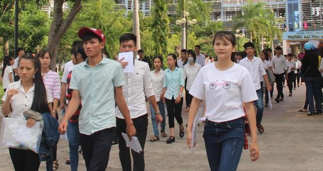 Thí sinh dự kỳ thi THPT Quốc gia 2016 tại Quảng Nam.