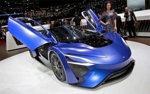 Techrules GT96 phiên bản concept ở triển lãm Geneva 2016. Ảnh: Driving.