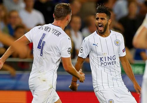 Mahrez lập cú đúp, giúp Leicester City thắng đậm trận ra quân ở Champions League. Ảnh: Reuters.