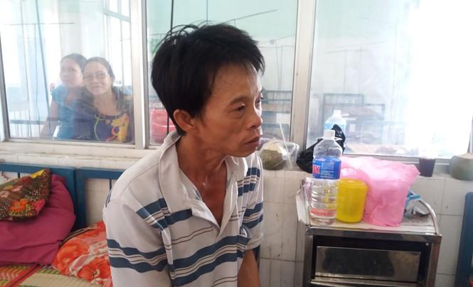 Đối tượng Trần Văn Thoại đang được theo dõi, điều trị tại Trung tâm y tế An Nhơn.