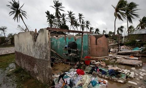Một ngôi nhà ở Les Cayes, Haiti, bị bão Matthew phá hủy.