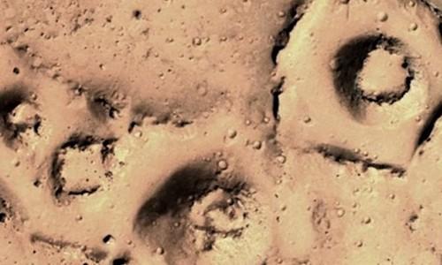 Hình ảnh được cho là của nền văn minh cổ đại trên sao Hỏa. Ảnh: Mirror.
