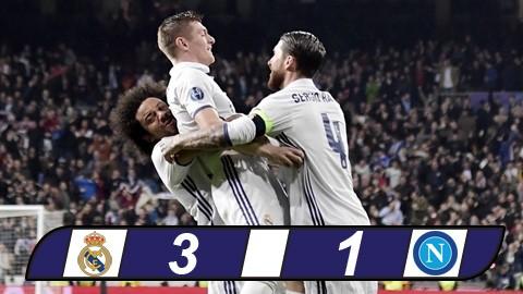 Ronaldo im tiếng, Real vẫn dễ dàng bắt nạt Napoli