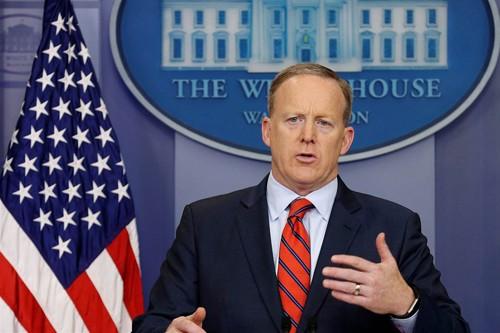 Thư ký báo chí Nhà Trắng Sean Spicer. Ảnh: NBC News