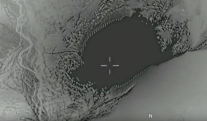 Hình ảnh cắt từ đoạn video ghi lại cảnh thả bom GUB-43.