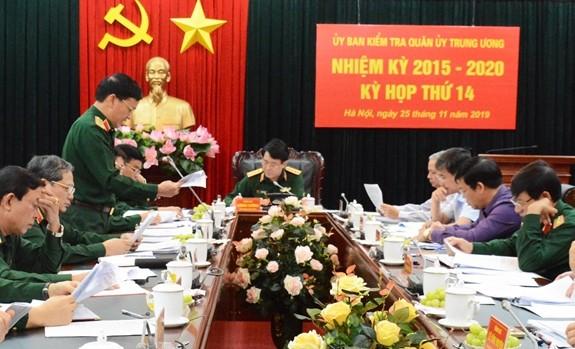 Ủy ban kiểm tra Quân ủy Trung ương tổ chức kỳ họp thứ 14. Ảnh QĐND.